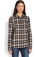 Splendid Plaid Flannel Buttonup Shirt - Lyst