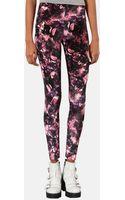 Topshop Floral Velvet Leggings - Lyst