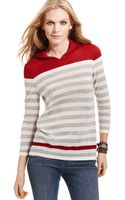 Calvin Klein Jeans Striped Hooded Sweater - Lyst