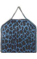 Stella McCartney Leopard Printed Foldover Tote - Lyst