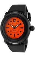 Glam Rock Womens Miami Beach Bright Orange Dial Black Silicone Glamrock Watch - Lyst