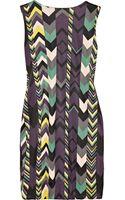 M Missoni Chevronprint Gathered Jersey Dress - Lyst