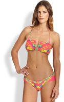 Mara Hoffman Pineappleprint Bandeau Bikini Top - Lyst