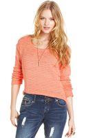 American Rag Long Sleeve Cropped Sweater - Lyst