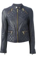Michael by Michael Kors Quilted Biker Jacket - Lyst