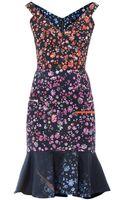 Preen By Thorton Bregazzi Morgan Forgetmenot Print Dress - Lyst