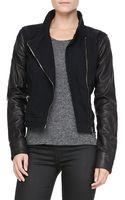 Rag & Bone Canvas-leather Moto Jacket - Lyst