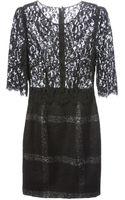 Dolce & Gabbana Floral Lace Contrast Dress - Lyst