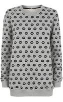 Markus Lupfer All Over Lips Sweater - Lyst