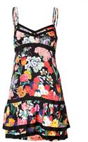 Moschino Silk Floral Print Tiered Dress - Lyst