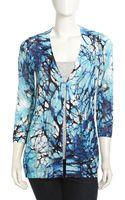 Alberto Makali Printed Knit Cardigan Turquoise Medium - Lyst