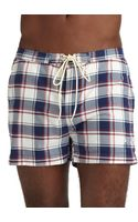 Gant Rugger Checked Swim Trunks - Lyst
