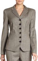 Lafayette 148 New York Lorianna Stretch Woolsilk Tweed Jacket - Lyst