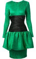 Sartoria Italiana Vintage Peplum Dress - Lyst