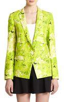 Tibi Daisies Silk Linen Blazer - Lyst