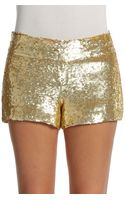 Haute Hippie Sequin Mini Shorts - Lyst