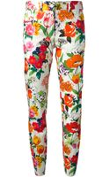 Moschino Floral Print Trouser - Lyst