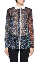 Preen By Thorton Bregazzi Lary Sheer Floral Print Shirt - Lyst