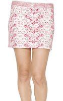Armani Jeans Stretch Denim Mini Skirt - Lyst