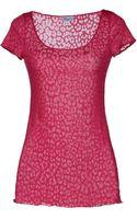 Blumarine Short Sleeve Tshirt - Lyst