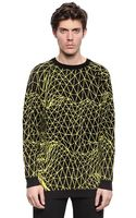 Christopher Kane Printed Cotton Sweater - Lyst