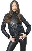 Diesel Black Gold Bomber Leather Jacket - Lyst