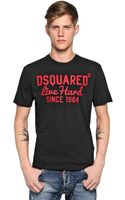DSquared2 Cracked Print Cotton Jersey T-shirt - Lyst