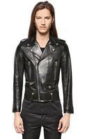 Saint Laurent Zipped Nappa Plongè Leather Jacket - Lyst