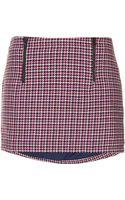 Topshop Petite Check Pelmet Skirt - Lyst