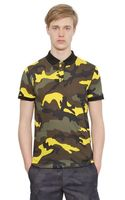 Valentino Printed Cotton Jersey Polo - Lyst