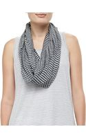 Eileen Fisher Crinkled Ramie Zigzag Infinity Scarf Moon - Lyst
