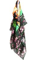 Givenchy Statue and Roses Cottonblend Scarf - Lyst
