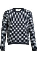 Marni Textured Checked Knit - Lyst