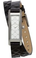 Escada Womens Swiss Florence Black Leather Double Wrap Strap Watch 38x14mm Iww - Lyst