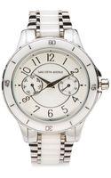 Saks Fifth Avenue Black Silvertone Ceramic Bracelet Watch - Lyst