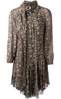 Etoile Isabel Marant Floral Print Dress - Lyst