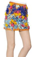 MSGM Embellished Cotton Viscose Ottoman Skirt - Lyst