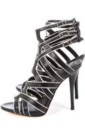 B Brian Atwood Leather Tribuckle High Heel Sandal - Lyst