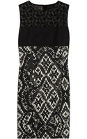 Giambattista Valli Paneled Intarsia Cottontweed Shift Dress - Lyst