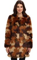 Michael by Michael Kors Faux Fur Coat - Lyst