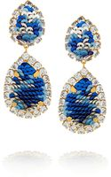 Shourouk Montana Goldplated Swarovski Crystal and Sequin Clip Earrings - Lyst