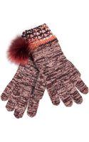 Missoni Cashmerewool Gloves with Fur Pompom - Lyst