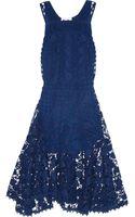 Chloé Crocheted Lace Midi Dress - Lyst