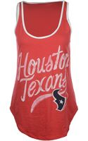 Junk Food Womens Houston Texans Roster Ringer Tank Top - Lyst