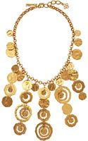 Oscar de la Renta Circle Necklace - Lyst