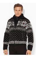 Polo Ralph Lauren Snowflake Mockneck Zip-up - Lyst