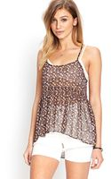 Forever 21 Ruffled Floral Cami - Lyst
