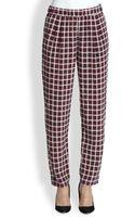 Equipment Hadley Plaid Silk Pants - Lyst