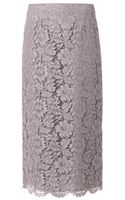 Valentino Lace Pencil Skirt - Lyst