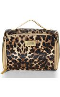 Kenneth Cole Reaction Brown Leopard Print Front Zip Train Case - Lyst